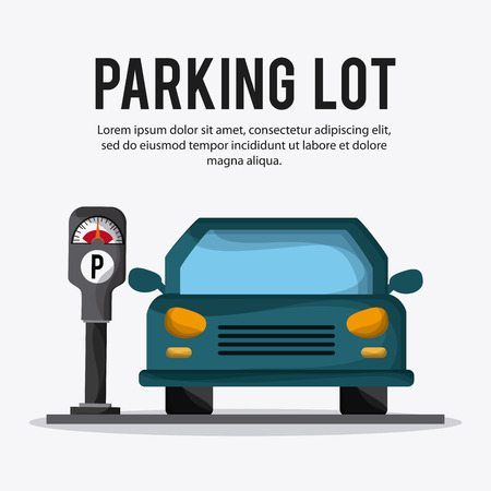 forbidden city: Parking lot concept with icon design, vector illustration 10 eps graphic. Illustration