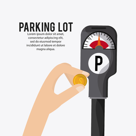 government regulations: Parking lot concept with icon design, vector illustration 10 eps graphic. Illustration