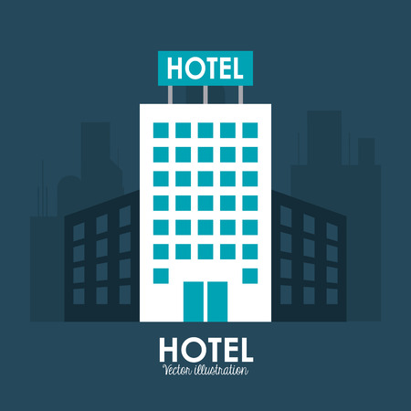 hotel lobby: Hotel concept with icon design, vector illustration 10 eps graphic. Illustration