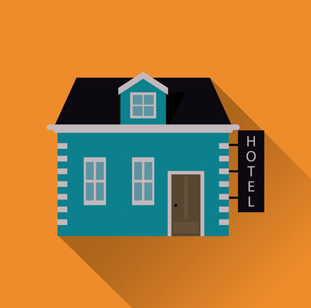 guest house: Hotel concept with icon design, vector illustration 10 eps graphic. Illustration