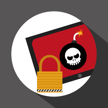 bomb threat: Security system concept with icon design, vector illustration 10 eps graphic. Illustration