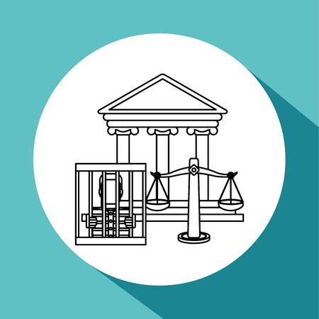 trial balance: Law concept with icon design, vector illustration 10 eps graphic.