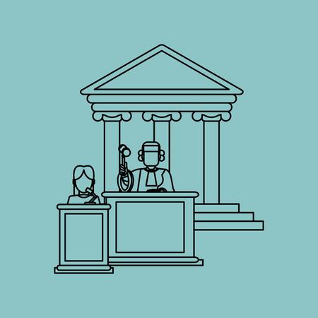 nozione di diritto con l'icona di design, illustrazione vettoriale 10 eps grafica.
