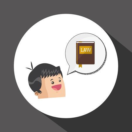 Law-Konzept mit Icon-Design, Vektor-Illustration 10 EPS-Grafik. Vektorgrafik