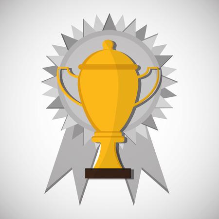 competitors: Champion concept with icon design, vector illustration 10 eps graphic. Illustration