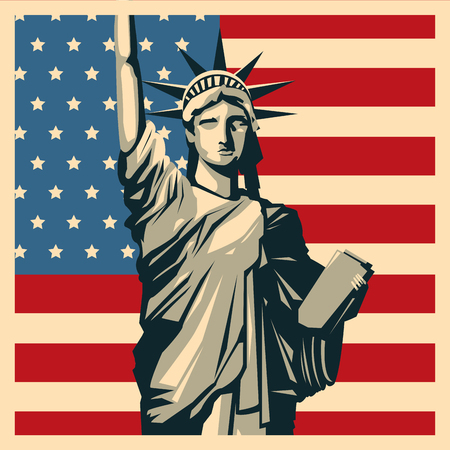 patriot: USA concept with icon design, vector illustration 10 eps graphic.