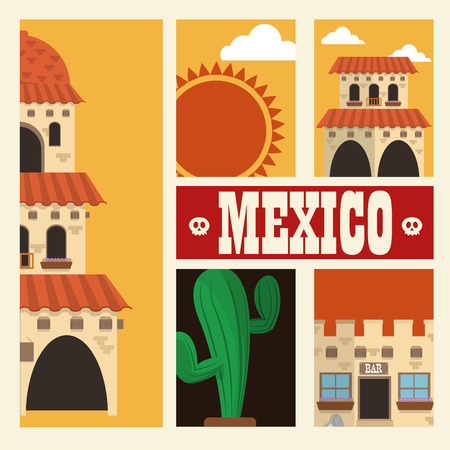 hispanics: Mexico  concept with culture icon design, vector illustration 10 eps graphic.