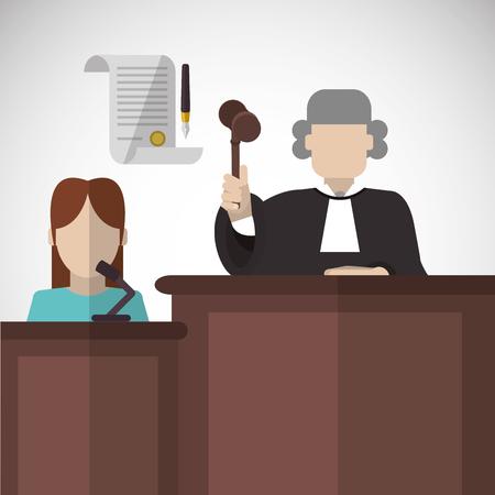 Law concept with icon design, vector illustration 10 eps graphic. Vektorové ilustrace