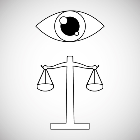 verdicts: Law concept with icon design, vector illustration 10 eps graphic.