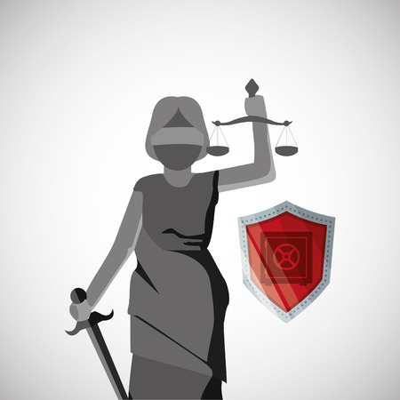 strongbox: Law concept with icon design, vector illustration 10 eps graphic.