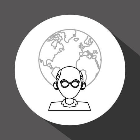 oldman: Social media concept with icon design, vector illustration 10 eps graphic. Illustration