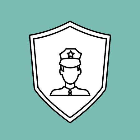 concept de l & # 39 ; assurance avec l & # 39 ; icône de l & # 39 Vecteurs