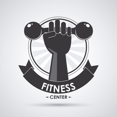 activity exercising: Fitness  concept with icon design, vector illustration 10 eps graphic. Illustration