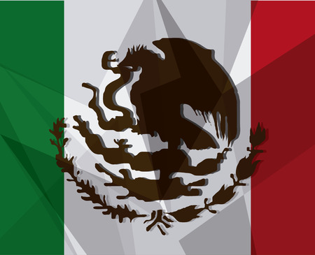 mexico culture: Mexico culture icons in flat design style, flag, vector illustration Illustration