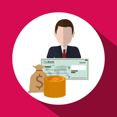 associates: Financial item concept with icon design, vector illustration 10 eps graphic. Illustration