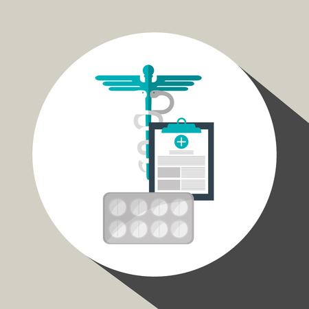 injure: Medical care concept with icon design, vector illustration 10 eps graphic.