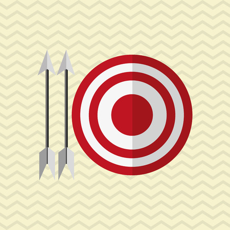 communication metaphor: target concept with icon design Illustration