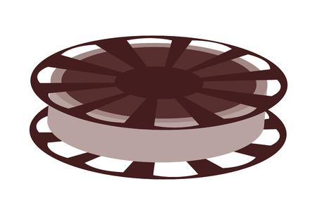 audiovisual: film reel vector illustration isolated over white