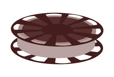film reel vector illustration isolated over white