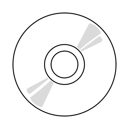 recordable media: black and grey cd vector illustration isolated over white Illustration