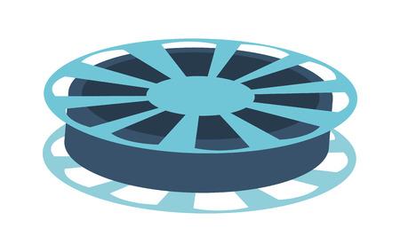 audiovisual: fblue ilm reel vector illustration isolated over white Illustration