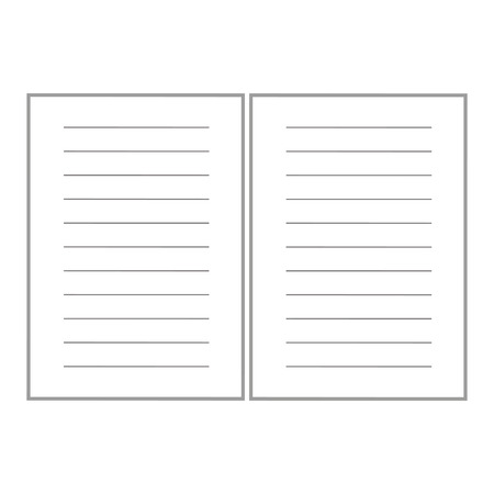 next to each other: two lined white paper sheet next each other vector illustration isolated over white