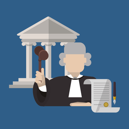 judicial system: Law concept with icon design, vector illustration 10 eps graphic.