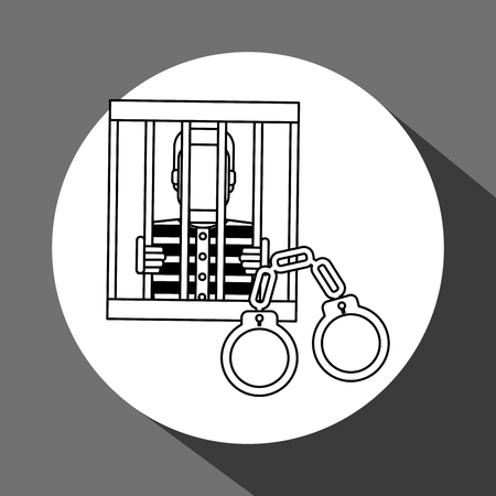 prison system: Law concept with icon design, vector illustration 10 eps graphic.