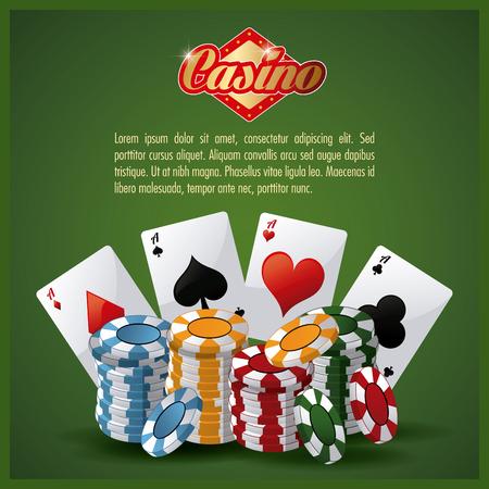 losing money: Casino concept with icon design, vector illustration 10 eps graphic.