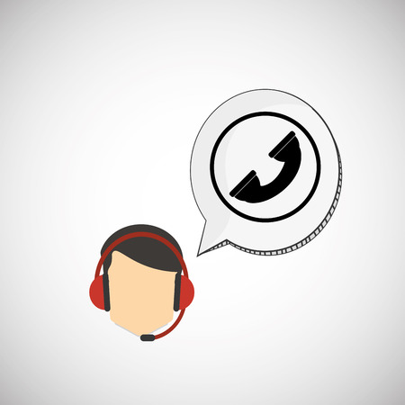 image consultant: Call center concept with icon design, vector illustration 10 eps graphic.