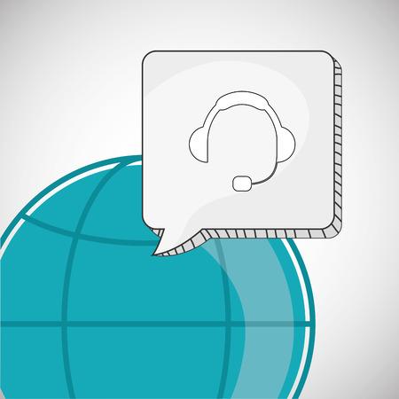 image consultant: Call center concept with icon design
