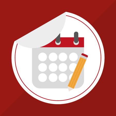 calendar design: calendar concept with icon design