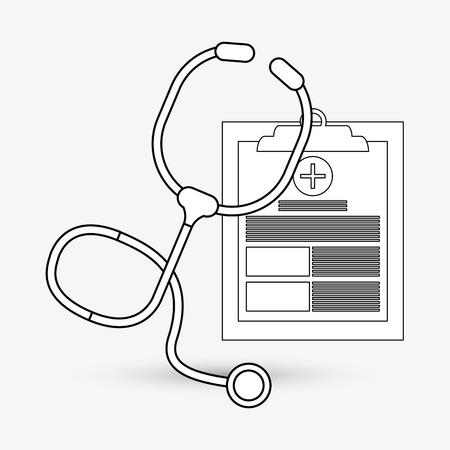 historia clinica: Medical care concept with icon design, vector illustration 10 eps graphic.