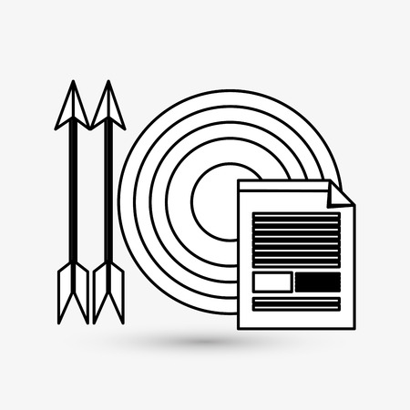 image consultant: target concept with icon design Illustration