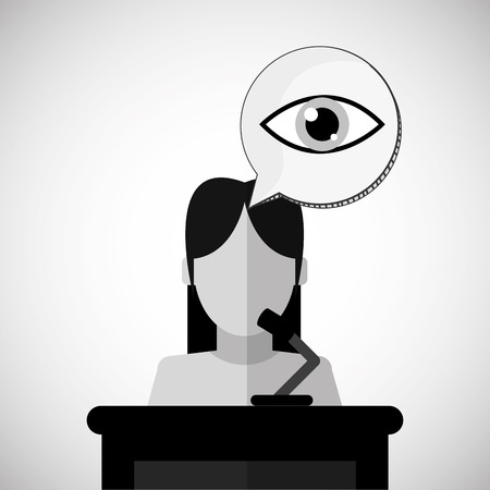 witness: Law concept with icon design, vector illustration