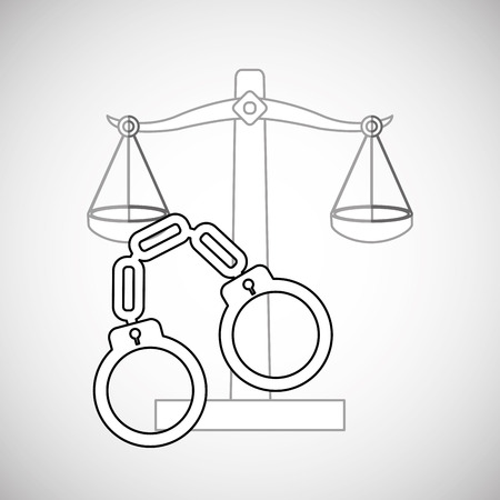 judicial: Law concept with icon design, vector illustration 10 eps graphic.