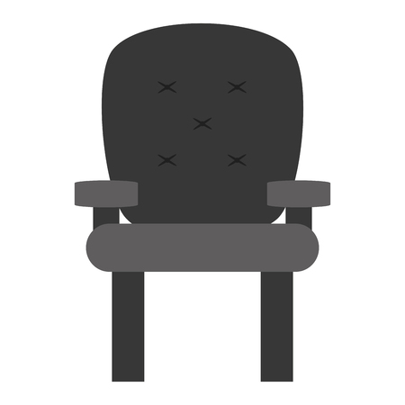 desgn: cushioned armchair vector illustration, gray icon desgn