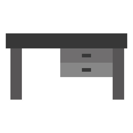 drawers: simple grey desk with two drawers vector illustration Illustration