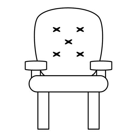 ergonomic: cushioned armchair vector illustration , flat style icon design Illustration