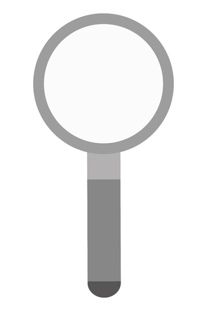 scrutiny: simple magnifying glass icon vector illustration flat icon style Illustration