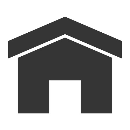 abode: simple grey small house vector illustration flat icon style Illustration