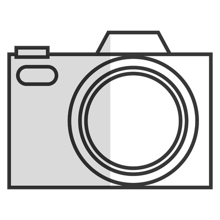 photographic: black line photographic camera vector illustration flat icon style
