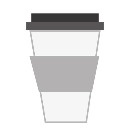 disposable coffee cup with lid vector illustration Иллюстрация