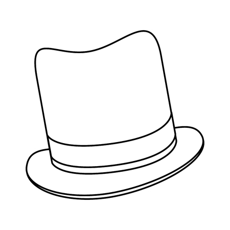tophat: simple black line tophat vector illustration flat icon style