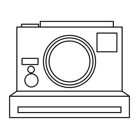 photographic camera: photographic camera vector illustration flat icon style