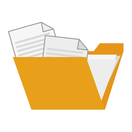 tidy: folder with paper documents inside vector illustration Illustration