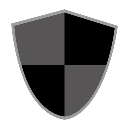 pointy: pointy black and grey shield vector illustration