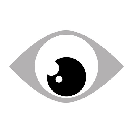 looking down: simple black and grey eye looking down vector illustration Illustration