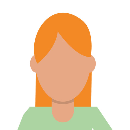caucasian woman: caucasian woman with blonde hair and green shirt vector illustration