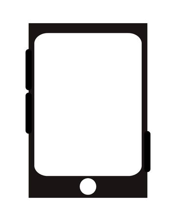 button front: cellphone with one button in the front and three to the sides vector illustration Illustration
